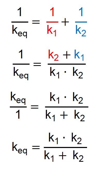 Fórmula especial para duas molas em série