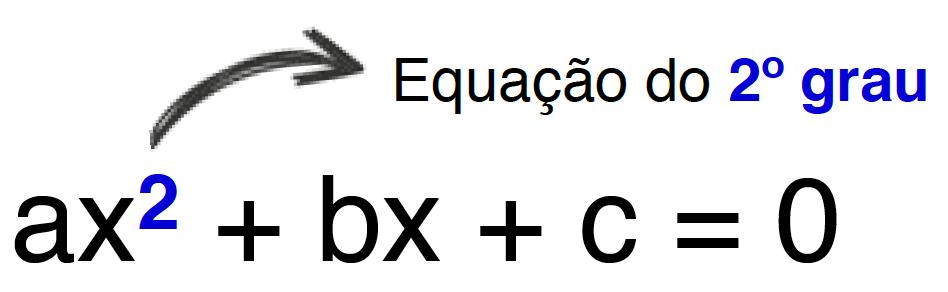 equação do 2º grau onde o exponte 2 está em destaque
