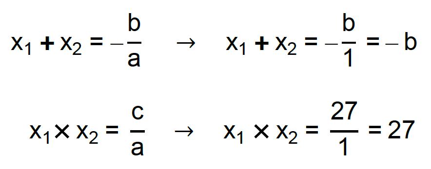 equações x1 + x2 = -b/a e x1 . x2 = c/a são aplicadas ao contexto do exercício da Cesgranrio