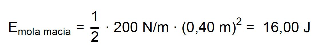 Energia potencial armazenada na mola macia